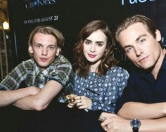 Jamie Campbell Bower, Lily Collins and Kevin Zegers