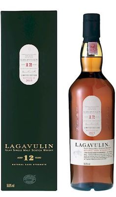 Lagavulin 12 year.  Peaty, but not as smooth as the 16, oddly enough.  Much more alcoholic which is a nice surprise! This one is at around 56%!