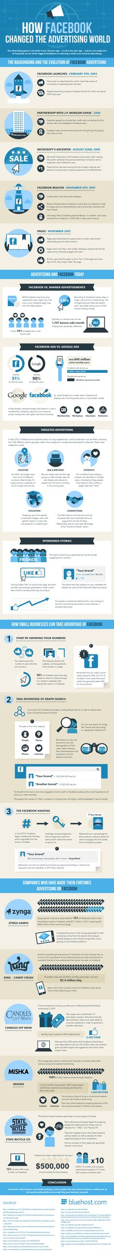 How Facebook Changed the Advertising World - great infographic by BlueHost!
