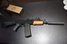 "Gun: Rifle Dynamics 300 BLK ""Krinkov."" Suppressor: Saker 762."