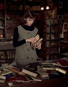 Audrey Hepburn's book store outfit                                                                                                                                                                                 More