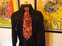Perfumed Garden Clothing satin shirt Lord Kitcheners Valet, Carnaby Street, London - tie