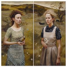 Andrea Kowch paintings www.niezlasztuka.net