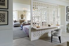 room divider ideas Bedroom Contemporary with bedroom sitting area arched window