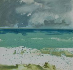 Clouds over an Emerald Sea Impressionist Landscape, Impressionist Paintings, Abstract Landscape, Seascape Paintings, Landscape Paintings, High Art, Sky And Clouds, Illustration Sketches, Portrait Art