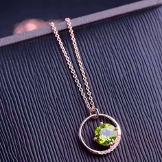 671b667d55c9e ... olivine Pendant Necklace S925 silver women Child Fashion Elegant round  Jewelry-in Necklaces from Jewelry   Accessories on Aliexpress.com