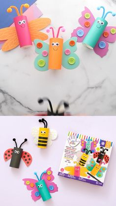 Creative Activities For Kids, Craft Projects For Kids, Paper Crafts For Kids, Baby Crafts, Craft Activities, Preschool Crafts, Toddler Art, Toddler Crafts, Toilet Paper Roll Crafts