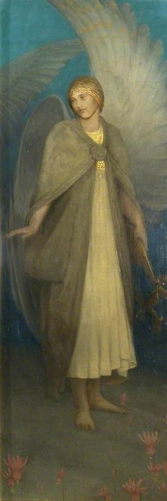 https://flic.kr/p/uFvJZm | Thomas Millie Dow - An angel with a lyre, 1898 | (c) Walker Art Gallery; Supplied by The Public Catalogue Foundation
