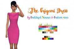 Deelitefulsimmer: The Origami dress • Sims 4 Downloads
