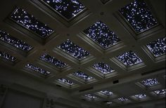 I want this ceiling - fibre optic lights. This would be cool in a basement / movie room
