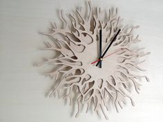— Natured-Inspired Wooden Wall Clocks by Asymmetree...
