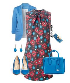 This dress is so cute and love the blue accents
