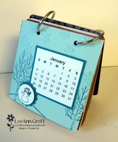 Coaster Calendar from Flowerbug's Inkspot Calendar Journal, Diy Calendar, Calendar Pages, Desk Calendars, Frame Calendar, Homemade Calendar, Homemade Books, Post It Note Holders, Holiday Invitations