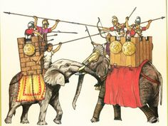 """Scholars have been arguing almost forever over the """"War of the Elephants,"""" which took place in 217 B. between Ptolemy IV, King of Egypt, and Antiochus III the Great, whose kingdom rea… War Elephant, Punic Wars, The Bible Movie, Ancient Civilizations, Warfare, Creepy, Beast, Mystery, Artwork"""