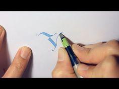 Parallel Pen Calligraphy - Y - YouTube