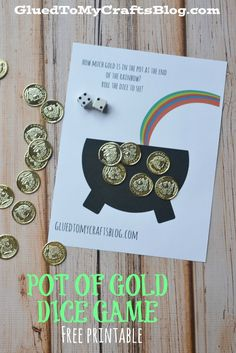 Pot of Gold - Dice Game Free Printable