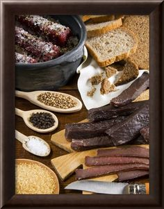 inch Photo Puzzle with 252 pieces. (other products available) - Biltong, dried and salted meat from South Africa, Africa - Image supplied by WorldInPrint - Jigsaw Puzzle made in the USA Biltong, South African Recipes, Grass Fed Beef, Made In Uk, Protein Snacks, Gifts In A Mug, Poster Size Prints, Salt, Breakfast
