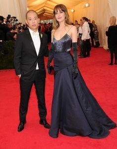 Jason Wu and Dakota Johnson at the 2014 Met Gala