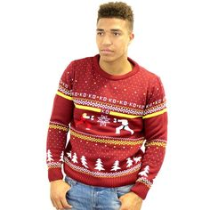 Official Street Fighter Ken Vs. Ryu Christmas Jumper / Sweater - £24.99