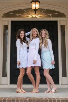 Scalloped Seersucker Skirt - http://www.laurenjames.com/collections/skirts/products/scallop-seersucker-skirt