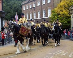 Windsor's Band of the Blues and Royals and their drum horses