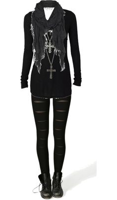 What to wear with leggings and tights – How to be beautiful Komplette Outfits, Gothic Outfits, Fashion Outfits, Womens Fashion, Scene Outfits, Fashion Boots, Style Fashion, City Outfits, Skater Outfits