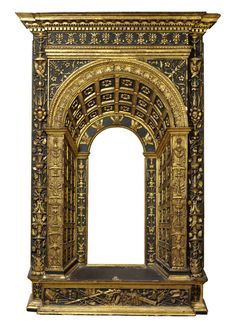 Carved aedicular frame, maker unknown, ?Tuscan, ?Venetian, 1475-1500, © Victoria and Albert Museum, London: museum no.: 5893-1859