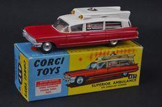 Corgi Toys #437 Superior Ambulance on Cadillac chassis