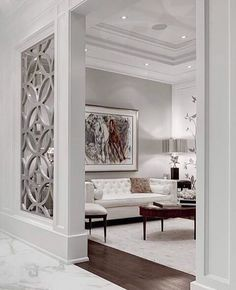 Claustra Walls for Your Interior Decor: Yes or No? Claustra Walls for Your Interior Decor: Yes or No? Living Room Designs, Living Room Decor, Living Spaces, Luxury Living Rooms, Glamour Living Room, Fancy Living Rooms, Elegant Living Room, Bedroom Designs, Modern Living