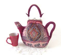 Felted teapot purse India by GalaFilc, via Flickr