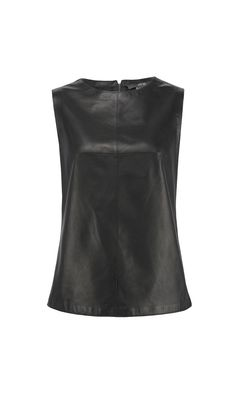 'BRISK' black glove leather blouse | PER SE  Fall 2013 | www.carlislecollection.com
