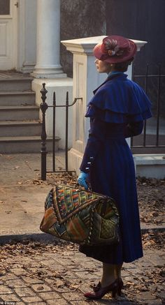 Practically perfect! The first picture of Emily Blunt on the set of Mary Poppins Returns has been unveiled