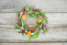 Style Me Pretty Thanksgiving Wreath DIY | Gardenista