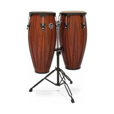 "LP - City Series 10"" and 11"" Conga Set With Stand - Mahogany (Brown)"