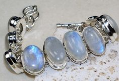 Moonstone bracelet designed and created by Sizzling Silver. Please visit  www.sizzlingsilver.com. Product code: BR-8131