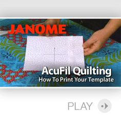 AcuFil Quilting Videos: Horizon Memory Craft 12000 by Janome