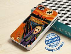 Scream Batman and Joker iPhone4,4s,5,5s,5c,6,6 plus,Samsung S3,S4,S5,iPod 4.5 Case