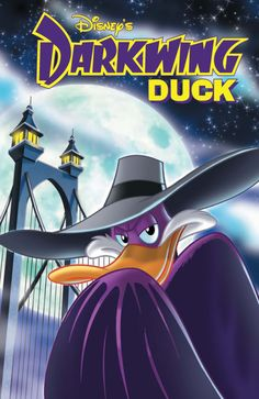"""I am the Disney hero that flaps in a spoof of """"Dark Knight""""! I am the cartoon character making a comeback in a miniseries collected in the trade """"The Duck Knight Returns""""! I AM DARKWING DUCK! Old School Cartoons, Cool Cartoons, 1990s Cartoons, School Humor, Disney Cartoons, 90s Childhood, My Childhood Memories, Two And Half Men, Dark Wings"""