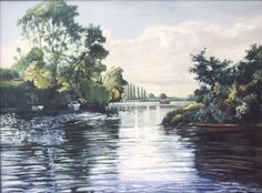 River Severn - oil painting
