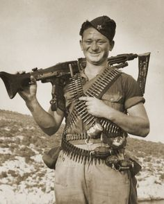 """captain-price-official: """" Yugoslav partisan on Vis island, Croatia, 1944 """" Prinz Eugen, Central And Eastern Europe, Military Photos, Soviet Union, Soviet Art, State Police, Freedom Fighters, European History, Historical Pictures"""