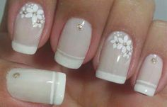 Unhas Decoradas para Casamento Noivas e Convidadas Diy Nails, Cute Nails, Classic Nails, Diy Nail Designs, Beautiful Nail Designs, Easy Nail Art, French Nails, Simple Nails, Manicure And Pedicure