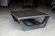 industrial furniture Furniture To Put In A Man Cave Steel Industrial Coffee Table Design Man Cave Furniture, Welded Furniture, Iron Furniture, Steel Furniture, Custom Furniture, Modern Furniture, Furniture Design, Furniture Ideas, Furniture Stores