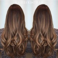 Are you looking for dark chocolate hair color for brunettes balayage? See our collection full of dark chocolate hair color for brunettes balayage and get inspired! Brown Hair With Caramel Highlights, Hair Color Highlights, Ombre Hair Color, Brown Hair Colors, Brunette Highlights, Subtle Highlights, Brunette Color, Balayage Brunette, Brunette Hair