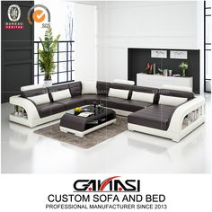 Ganasi Medium Size Italian Modern Furniture G8012 , Sectional Sofa, Dubai Sofa Furniture,Model NO.:G8012, Back Height:Medium Back, Certification:CARB, Fire Retardant Standard:BS 5852, Material:Genuine Leather, Inflatable:Non Inflatable, Condition:New, MOQ:1 Set, Delivery:Within 7-15 Days Prompt Delivery, Warranty:2 Years Warranty, Washable:Non Washable, Custom Made:Custom Size, Color, Shape etc, Color Choices:up to 40 Color Options, Trademark:GANASI, Transport Package:Untra Strong Export… Leather Sofa Decor, Leather Sofa Set, Leather Lounge, Leather Sectional, Leather Furniture, Sofa Furniture, Living Room Sectional, Restaurant Furniture, Modular Sofa