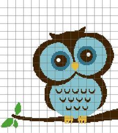 Blue Owl Eyes Open pattern on Craftsy.com $4