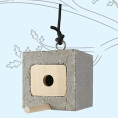 DIY cinder block birdhouse : lowescreativeideas.com