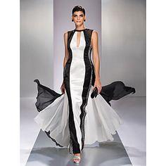 Κομψό - Φόρεμα - Γραμμή Α - Κόσμημα - Μέχρο το Πάτωμα – EUR € 99.99