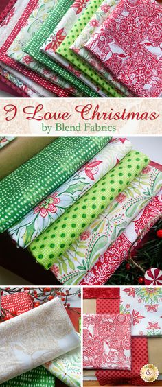 I Love Christmas - Blend Fabrics Bring the magic of Christmas into your home this holiday season with the I Love Christmas collection from Cori Dantini. This classic vintage line features bold Christmas medallions, tiny polka dot prints, and simple landscapes.