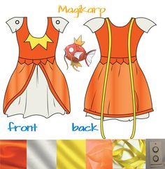 Magikarp Pokemon Dress Cosplay