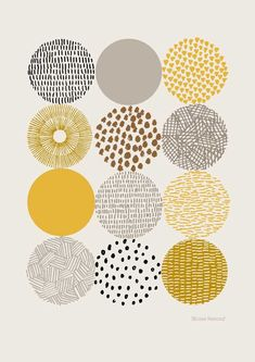 Circles Open edition giclee print by EloiseRenouf on Etsy, $25.00